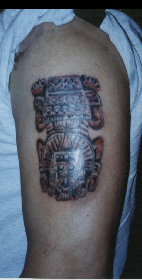 Aztec tattoos are often very complex and highly detailed.